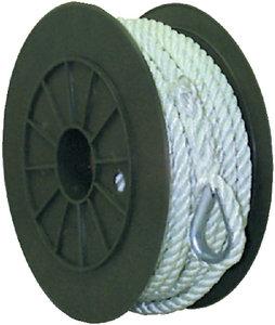 Seachoice - NYLON ANCHOR LINE-WHT-3/8X100
