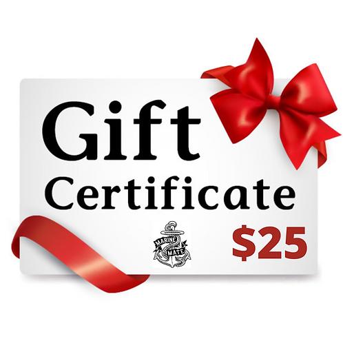 $25 Marine Mate Gift Certificate!