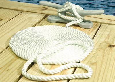Seachoice - NYLON DOCK LINE WH 1/2X15 CLAM