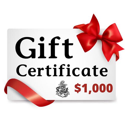 $1,000 Marine Mate Gift Certificate!