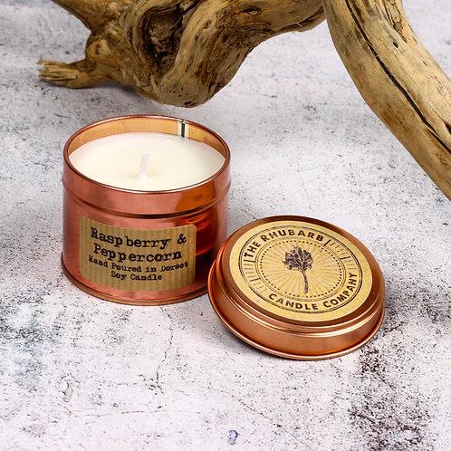 Rhubarb Candle Co - Raspberry & Peppercorn candle.