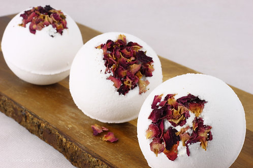 Sweet Rose Bath Bombs (pack of 3)