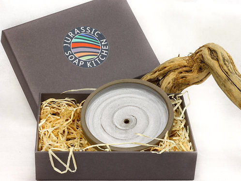 Anthracite Clay Soap Dish - Gift Box