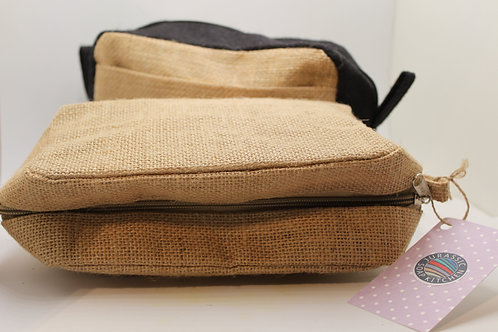 Jute Toiletry Bag