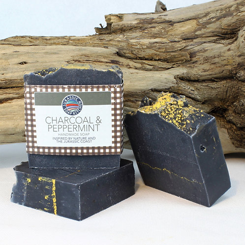 Charcoal and Peppermint Soap