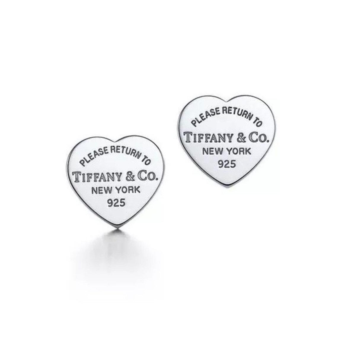 003d148999296 Brinco De Coração Tiffany   Co Prata