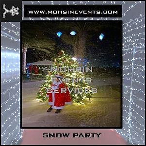 snow party in dubai