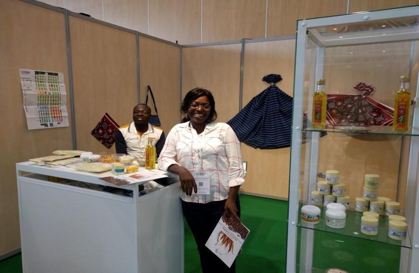 PRésidente d'ASY, Nicole Wend Yam Ouedraogo, lors du salon NATEXPO à Lyon
