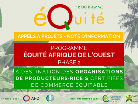OP de commerce équitable en Afrique de l'Ouest: préparez-vous pour les appels à projets 2020 !