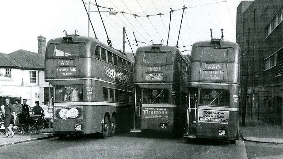 North London Trolley Buses - Super 8mm 200ft B/W Sound