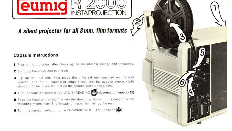 Eumig R2000 Instruction Book - Physical Copy