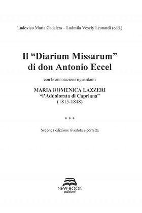 """Il """"Diarium Missarum"""" di don Antonio Eccel"""