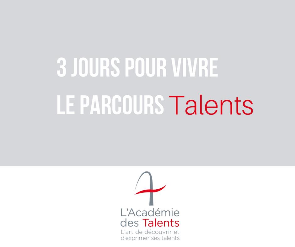 Parcours Talents en 3 jours