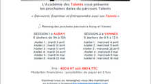 Parcours Talents : nos sessions d'Avril 2018