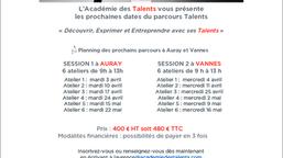 Parcours Talents : nos sessions d'Avril 2018