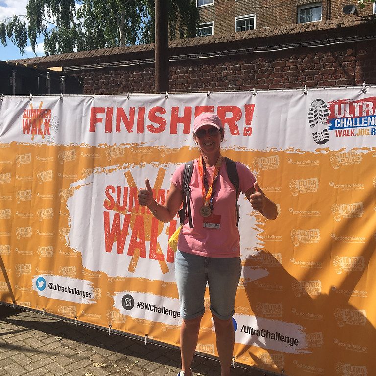 Claire has now completed the 26 mile walk