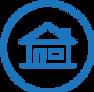 Maison en bleu