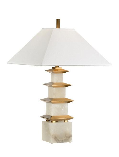 PAGODA ALABASTER LAMP