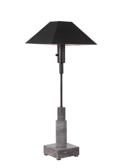 PAIR OF TRAVERTINE BUFFET LAMPS