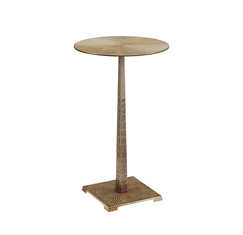 HAMMERED BRASS ACCENT TABLE