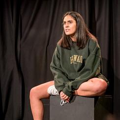 Actor: Sophia de Souza Photo: Steve Gregson Venue: Canal Cafe Theatre Producer: Tectum Theatre