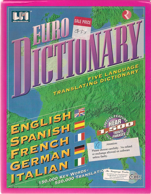 EURO Dictionary CD-ROM