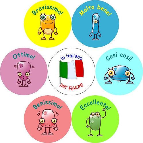 Italian Stickers 7 pack