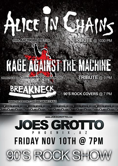 Alice Un Chained returns to Joe's Grotto in Phoenix, Az on Nov 10th, 2017