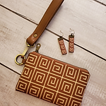 scaled 75% 6-11-21 IG Mini Wallet and earring brown greek key.png