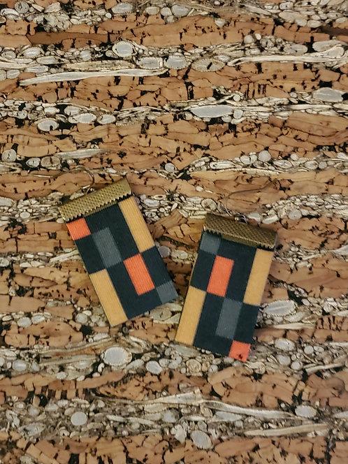 Rectangle Mondrian Earrings