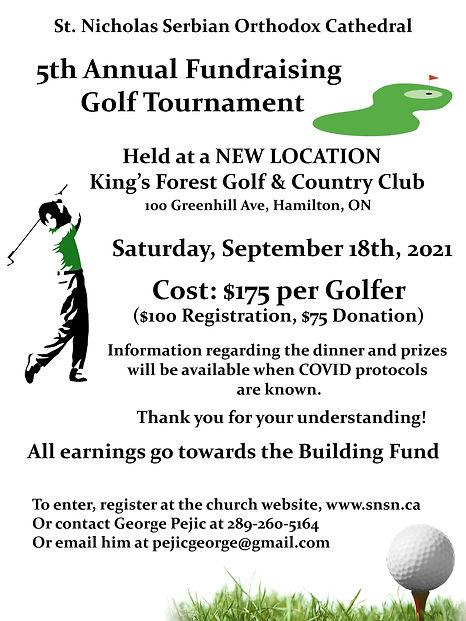 5th Annual Fundraising Golf Tournament P