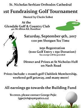 Golf Tourney 1st Poster - Jult 10th 2017