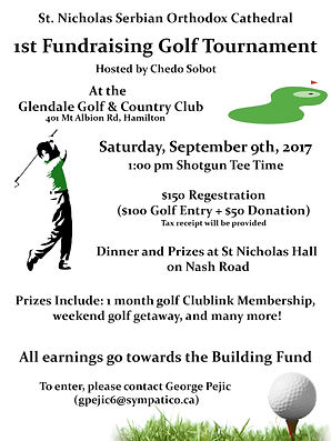 Golf Tourney 1st Poster - Jult 10th 2017