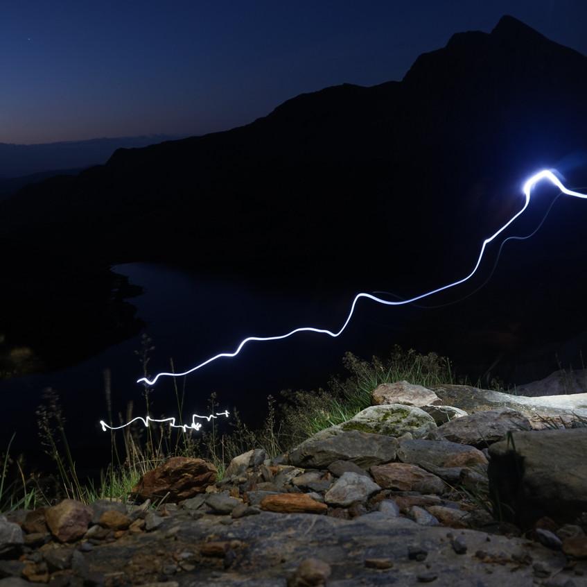 Torchlight walk up Snowdon