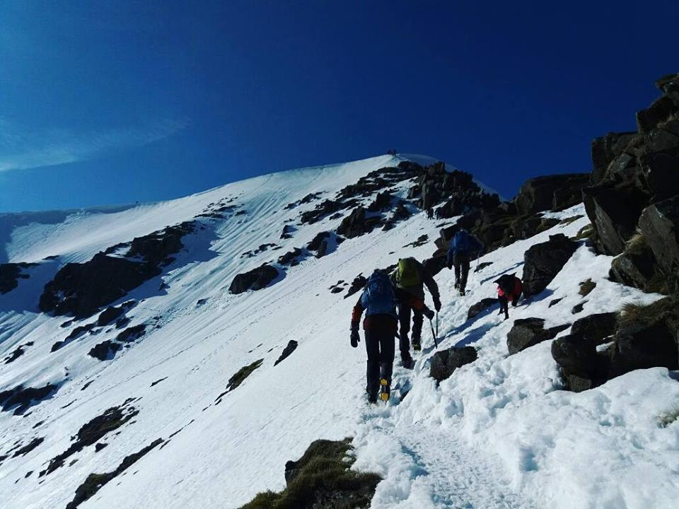 Helvellyn in Winter Guided Walk I Lakeland Mountain Guides