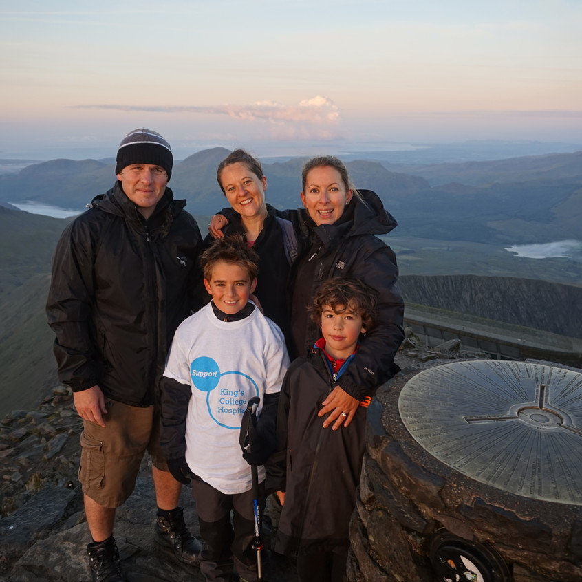 Family on the Summit of Snowdon