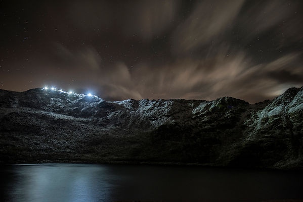 Striding Edge by Torchlight - Credit Carmen Norman