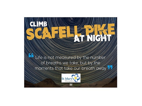 Scafell Pike by Night for St Mary's Hospice - Moderate Route