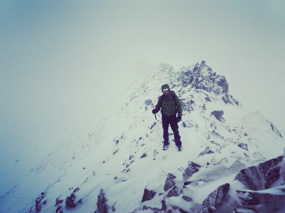 Striding Edge in Winter I Lakeland Mountain Guides