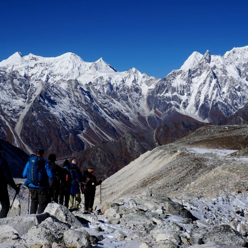 Descending the pass
