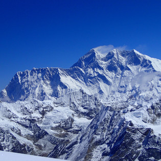 Everest from the summit of Mera Peak