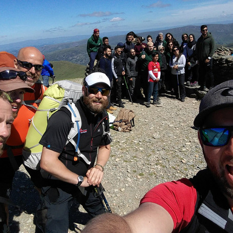 Helvellyn with Charity Fundraisers