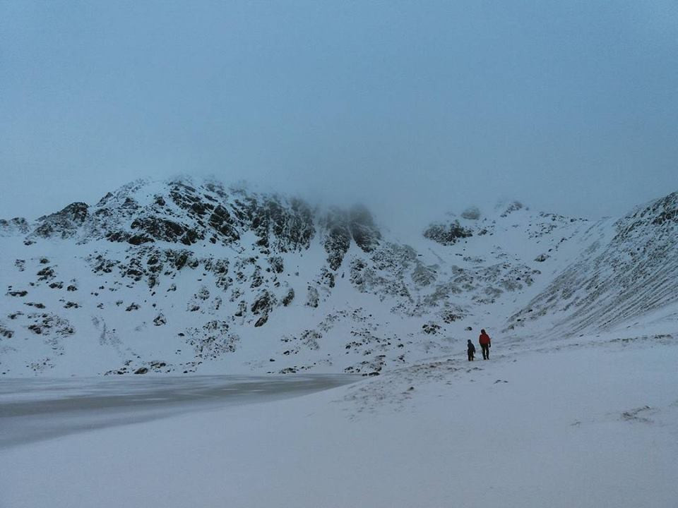 Helvellyn in Winter I Lakeland Mountain Guides