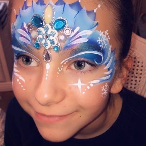 Princess with Bling & Glitter Gloss Party with Face Paint and Hair Coloring $230