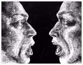 """""""The Narcissist"""" Etching & Aquatint 13''x 16'' 2015"""