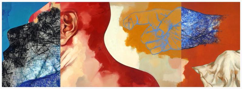 """Sabotage of a Romantic Idea"" 36""x96"" Oil on Canvas 2009"