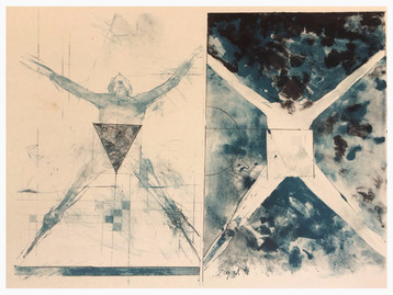 """""""Untitled"""" Lithograph 22""""x 28""""  1994"""
