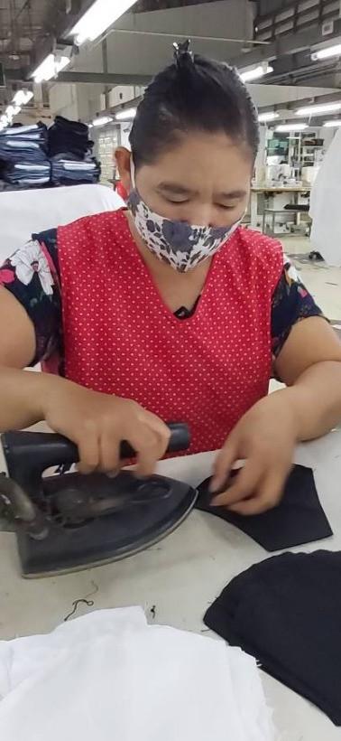 Ironing before packing