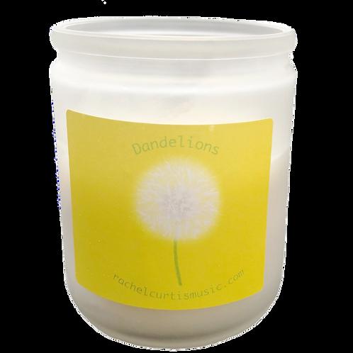Dandelion Aromatherapy Vanilla Scented Candle, 3 oz