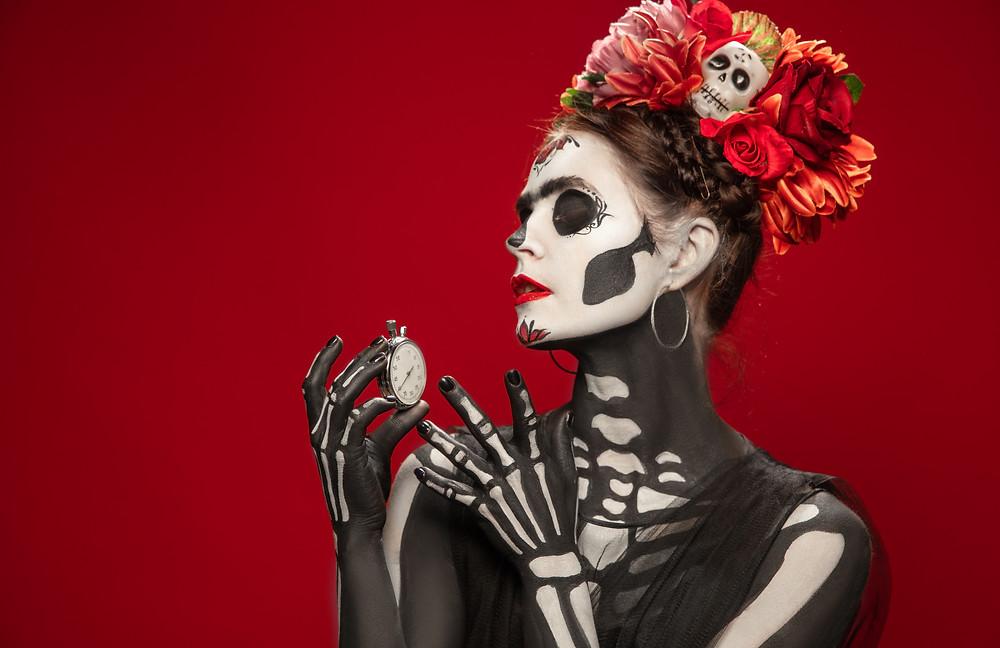 sugar skull makeup halloween appropriazione culturale